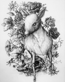 The Fawn, Skull and Flowers
